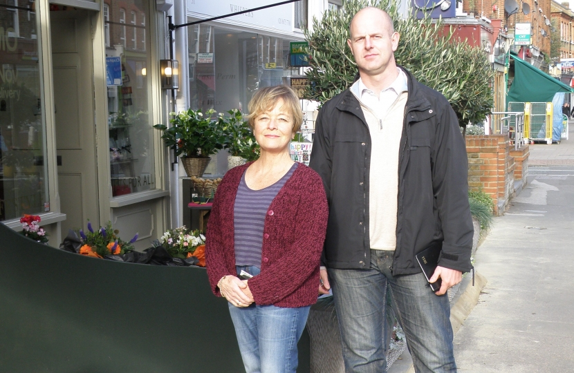 Successful local campaigners: Tim Briggs and Cllr Shirley Cosgrave